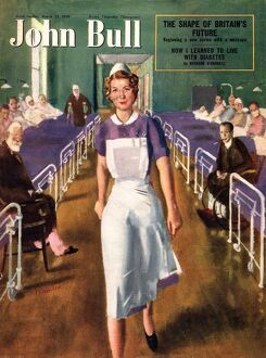 John Bull 1950 1950s UK hospitals nurses magazines medical