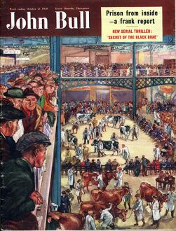 John Bull 1950 1950s UK smithfield cattle markets farmers cows show magazines farming