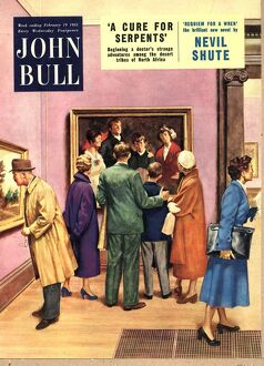 John Bull 1950s UK art museums art gallery galleries magazines