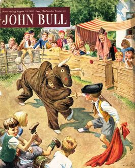 John Bull 1950s UK bullfights bull fights fighting bull-fights bull-fighting fancy