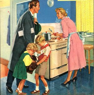 John Bull 1950s UK cooking kitchens housewives