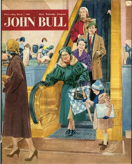 John Bull 1950s UK escalators shopping magazines