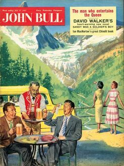John Bull 1950s UK holidays alpine mountains magazines