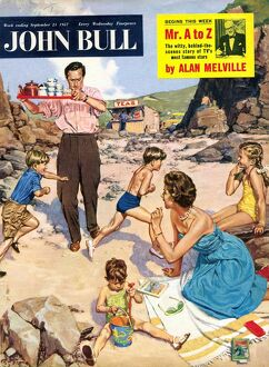 John Bull 1950s UK holidays beaches seaside magazines