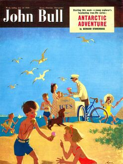 John Bull 1950s UK holidays beaches seaside ice-cream seaside magazines