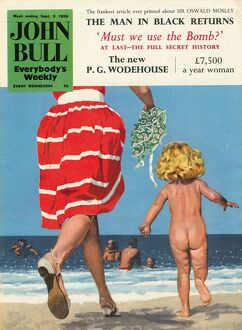 John Bull 1950s UK holidays beaches seaside sea swimming s toddlers seaside magazines