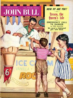 John Bull 1950s UK holidays ice-cream magazines