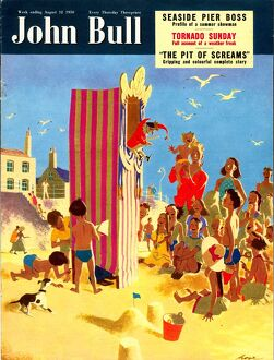 John Bull 1950s UK holidays seaside beaches seaside punch and judy puppets magazines