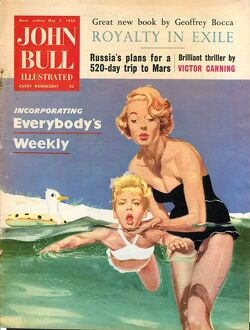 John Bull 1950s UK holidays swimming lessons magazines