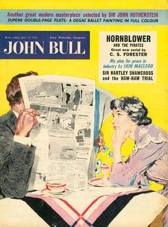 John Bull 1950s UK marriages reading newspapers magazines
