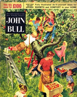 John Bull 1950s UK picking apples fruit magazines