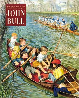 John Bull 1950s UK rowing training canoeing canoes sport boats magazines