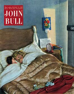 John Bull 1950s UK sleep bedtime magazines sleeping