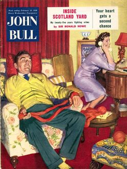 John Bull 1950s UK sleep sleeping knitt magazines