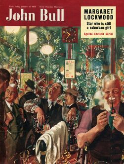 John Bull 1951 1950s UK men pubs locals closing time magazines