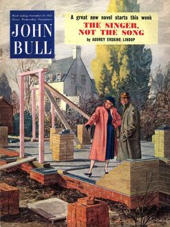 John Bull 1952 1950s UK new homes property foundations moving building house house
