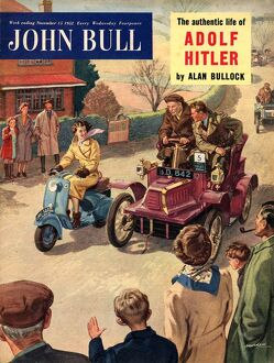 John Bull 1952 1950s UK veteran cars rallies scooters flirting magazines