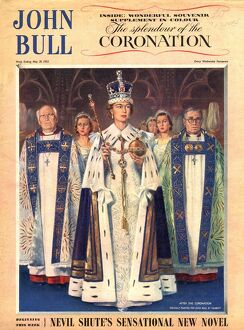 John Bull 1953 1950s UK coronation queens elizabeth magazines