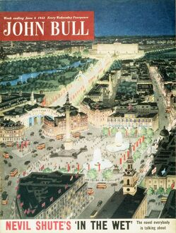 John Bull 1953 1950s UK trafalgar square london capital cities nelsons column magazines