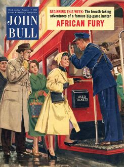 John Bull 1954 1950s UK buses bus conductors rush hour routemasters magazines