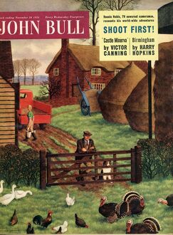 John Bull 1954 1950s UK farms farming farmers magazines