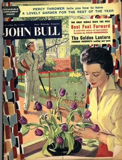 John Bull 1954 1950s UK flowers arranging magazines
