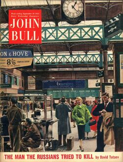 John Bull 1954 1950s UK railways stations magazines