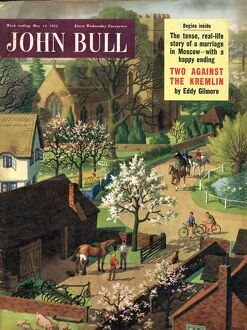 John Bull 1955 1950s UK blacksmiths horses riding the countryside magazines