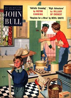 John Bull 1955 1950s UK cooking naughty milkman milkmen kitchens housewives housewife