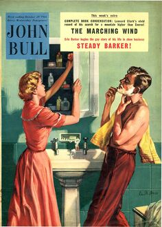 John Bull 1955 1950s UK couples bathrooms magazines