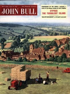 John Bull 1955 1950s UK farms farmers tractors magazines