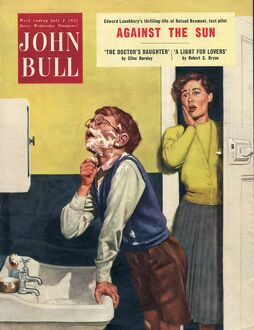 John Bull 1955 1950s UK mothers sons bathrooms magazines family