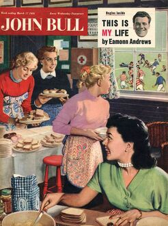 John Bull 1956 1950s UK cooking rugby tea girlfriends baking magazines