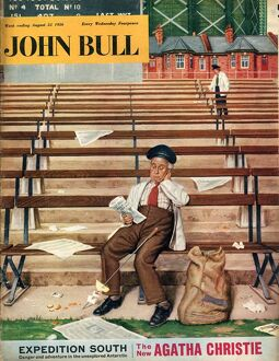 John Bull 1956 1950s UK litter stadiums rubbish magazines