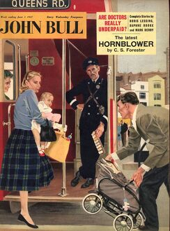 John Bull 1957 1950s UK babies buses london transport mothers busy conductors chivalry