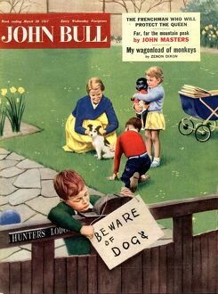 John Bull 1957 1950s UK dogs beware of the magazines