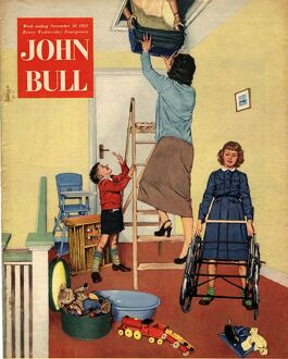 John Bull 1957 1950s UK lofts attics property packing clearing magazines