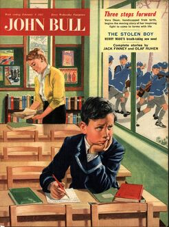 John Bull 1957 1950s UK naughty children schools magazines