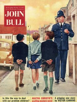 John Bull 1957 1950s UK police naughty boys magazines