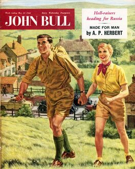 John Bull 1958 1950s UK holidays hiking walking trekking outdoors magazines hikers