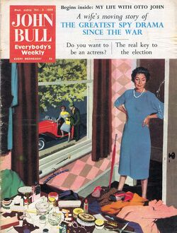 John Bull 1959 1950s UK mess messy rooms housewives housewife tidying cleaning products