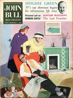 John Bull 1959 1950s UK sleep fires magazines sleeping