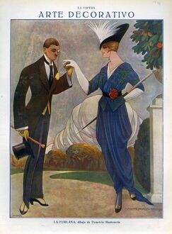 La Esfera 1914 1910s Spain cc art deco womens mens top hats dresses gloves monocles