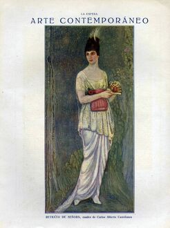 La Esfera 1918 1910s Spain cc womens portraits dresses fans