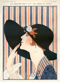 La Vie Parisienne 1918 1910s France G Barbier illustrations womens hats Georges