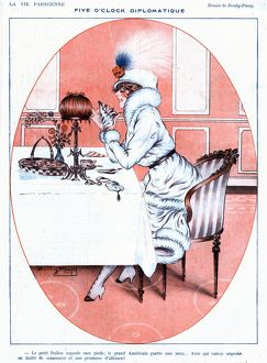 La Vie Parisienne 1919 1910s France glamour erotica reastaurants eating alone
