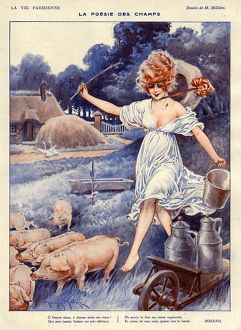 La Vie Parisienne 1919 1920s France Maurice Milliere illustrations erotica pigs