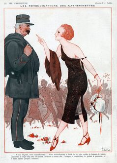 La Vie Parisienne 1920s France A Vallee illustrations police