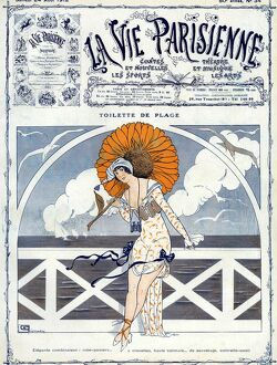 La Vie Parisienne 1923 1920s France Georges Leonnec illustrations erotica umbrellas