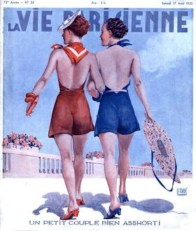 La Vie Parisienne 1935 1930s France magazines womens walking glamour swimwear bathing